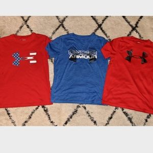 3 Boys Under Armour Shirts Size M